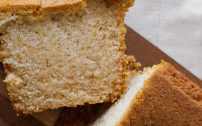 Diet friendly orange and poppy seed pound cake